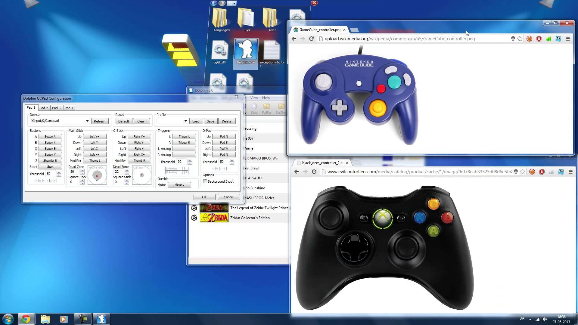 dolphin emulator ps3 controller settings