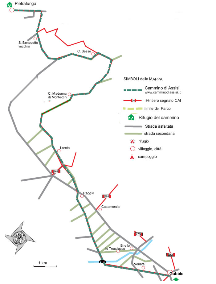 Viewranger 11a Tappa Pietralunga Gubbio Walking Route In